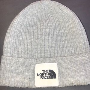 The North Face light grey beanie